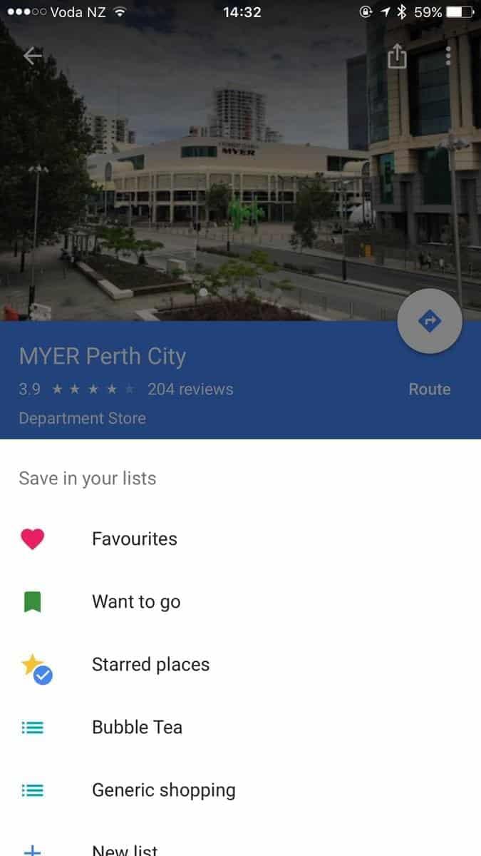 Google Maps Lists Feature 2