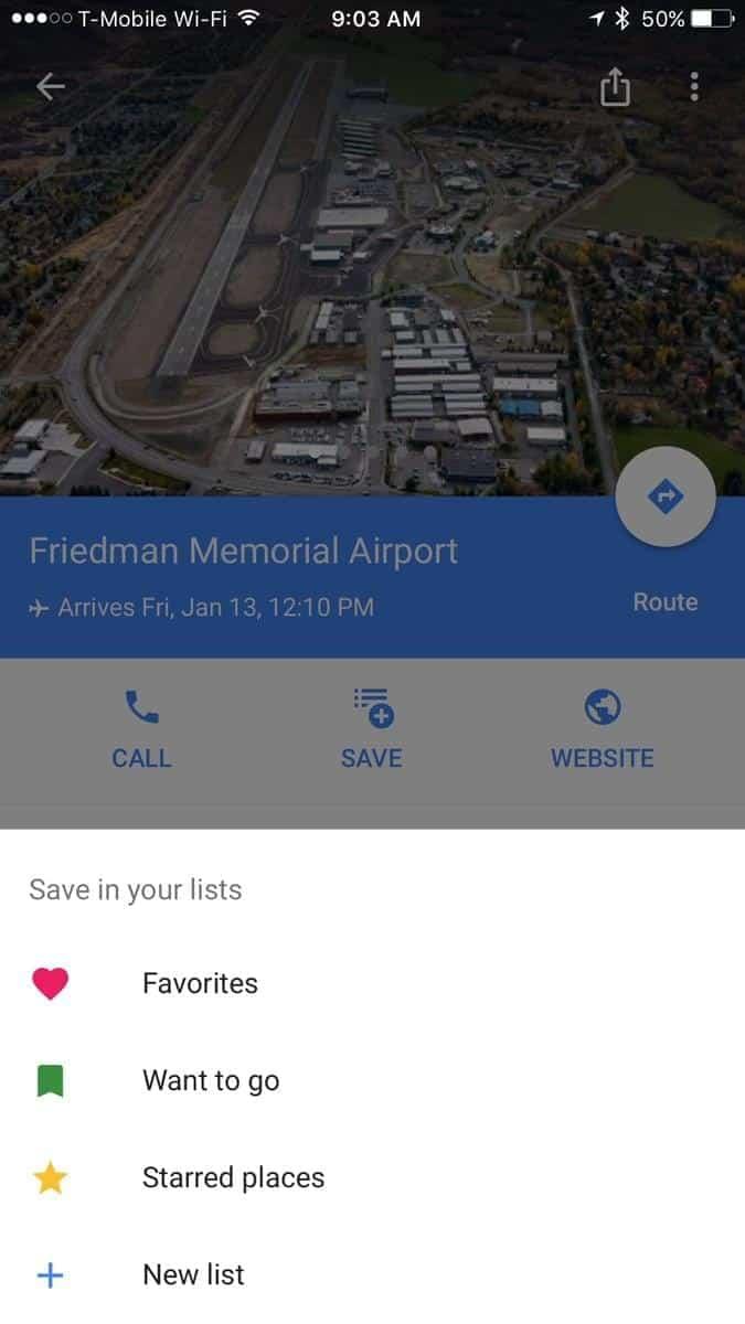 Google Maps Lists Feature 5