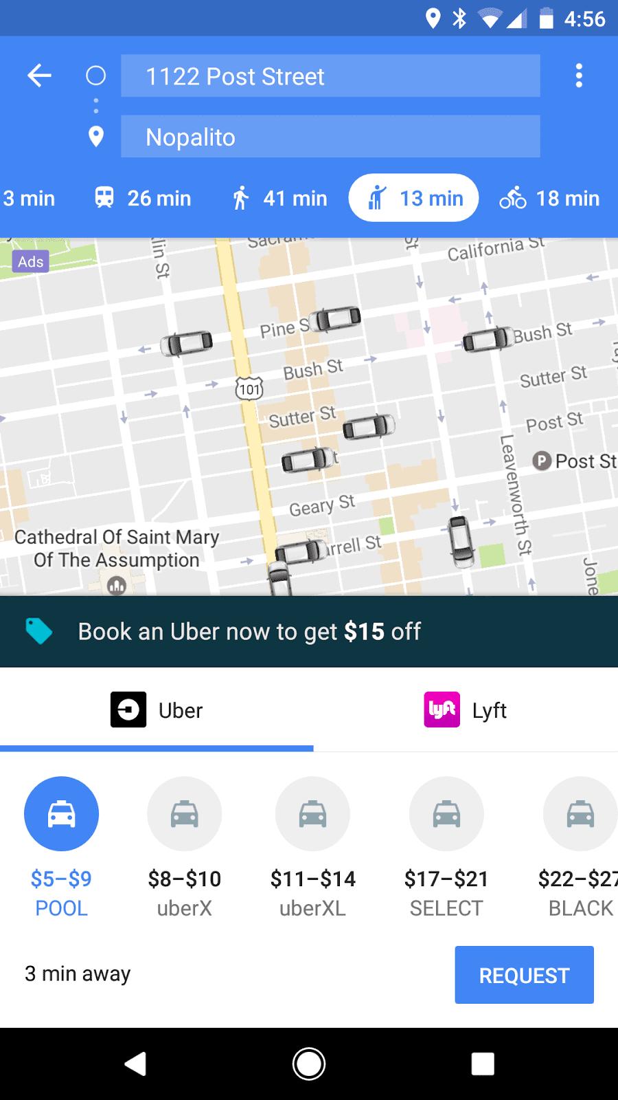 Google Maps Uber Integration 2
