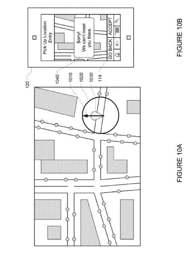 Google Self Driving Service Patent 10