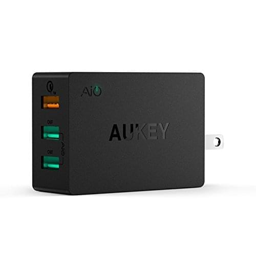 Quick Charge 2.0 AUKEY 3 Port USB Wall Charger 01