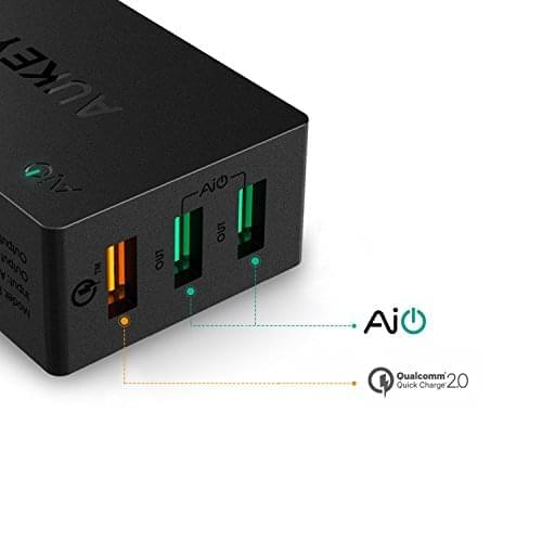 Quick Charge 2.0 AUKEY 3 Port USB Wall Charger 03
