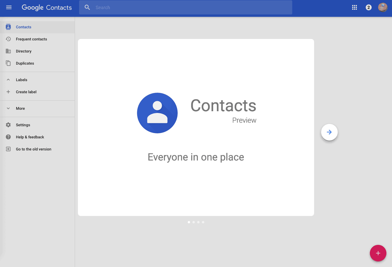 Web Version of Google Contacts Gets Material Design UI ...