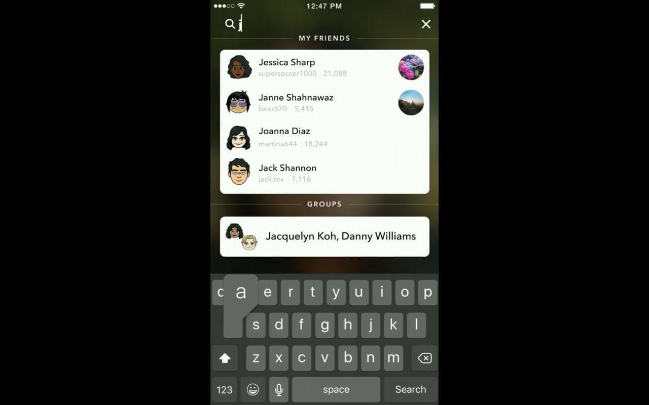 Snapchat Universal Search 3
