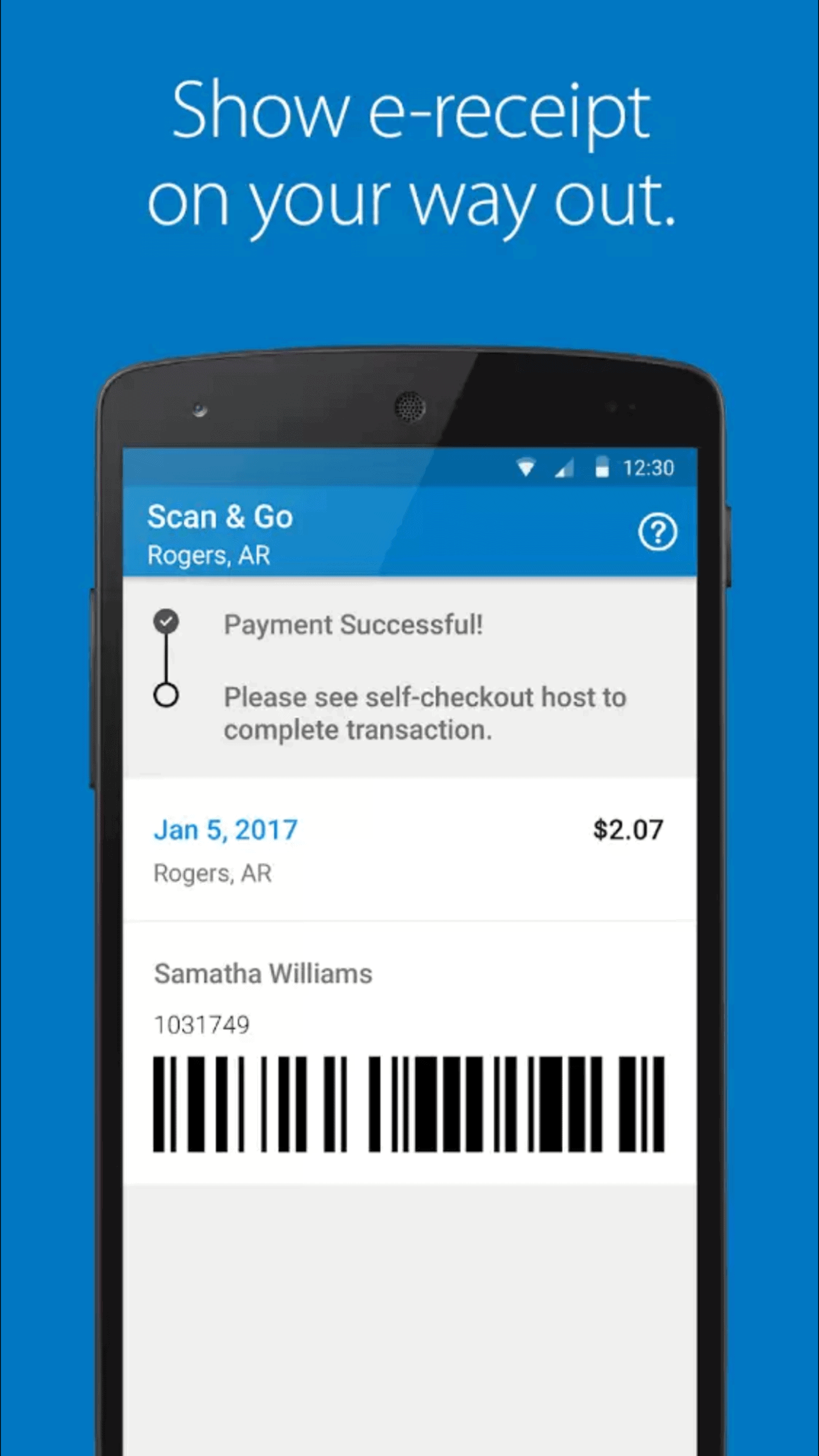 Walmart Scan and Go 4