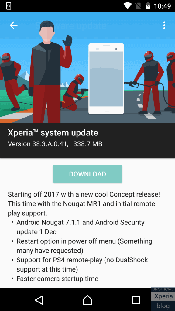 Xperia X Concept Android Nougat 711 1