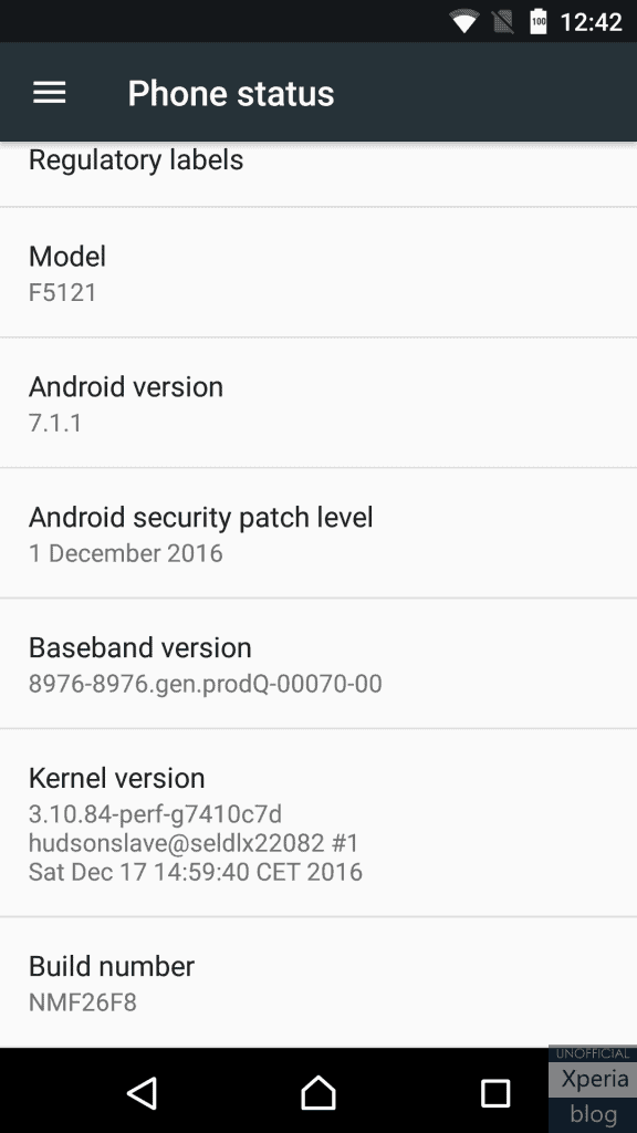 Xperia X Concept Android Nougat 711 2