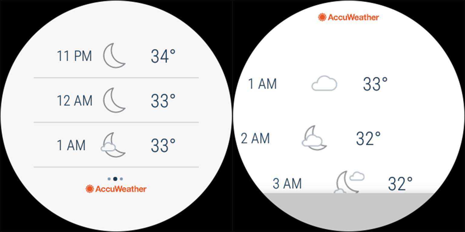 AccuWeather Old New Comparison 2