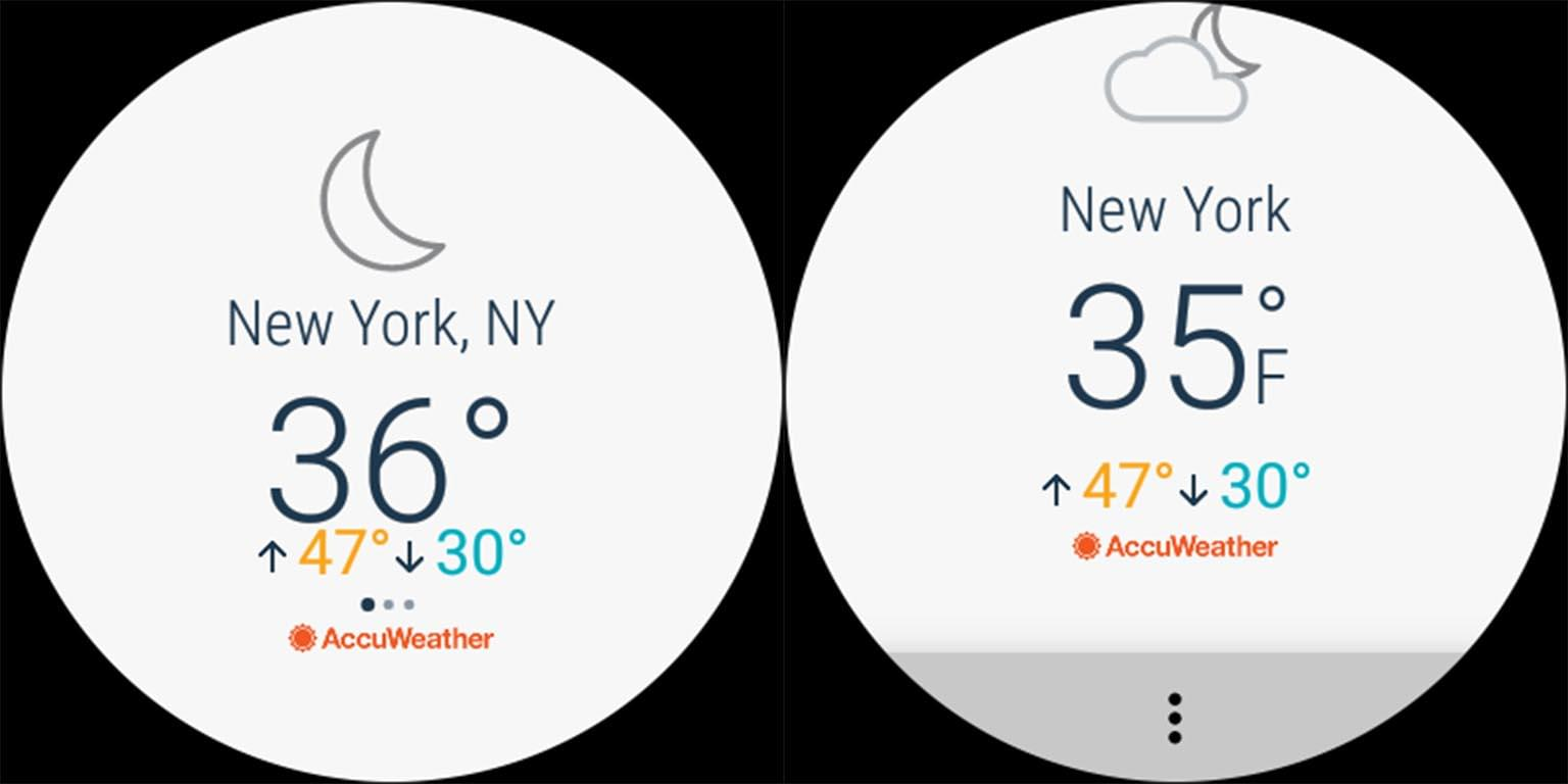 AccuWeather Old New Comparison