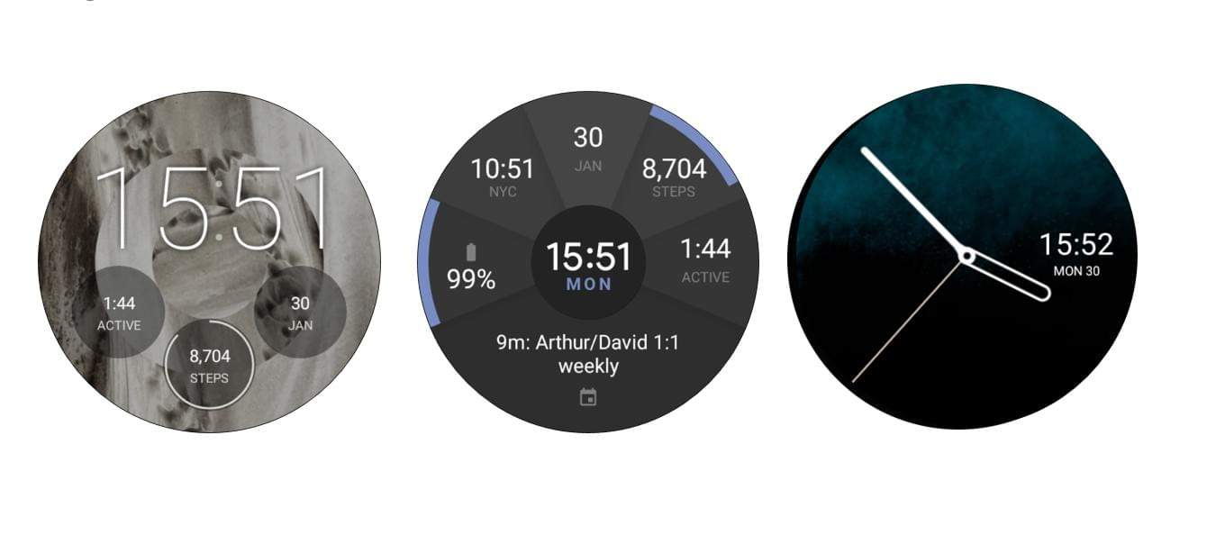 Android Wear 2.0 Google Watch Faces