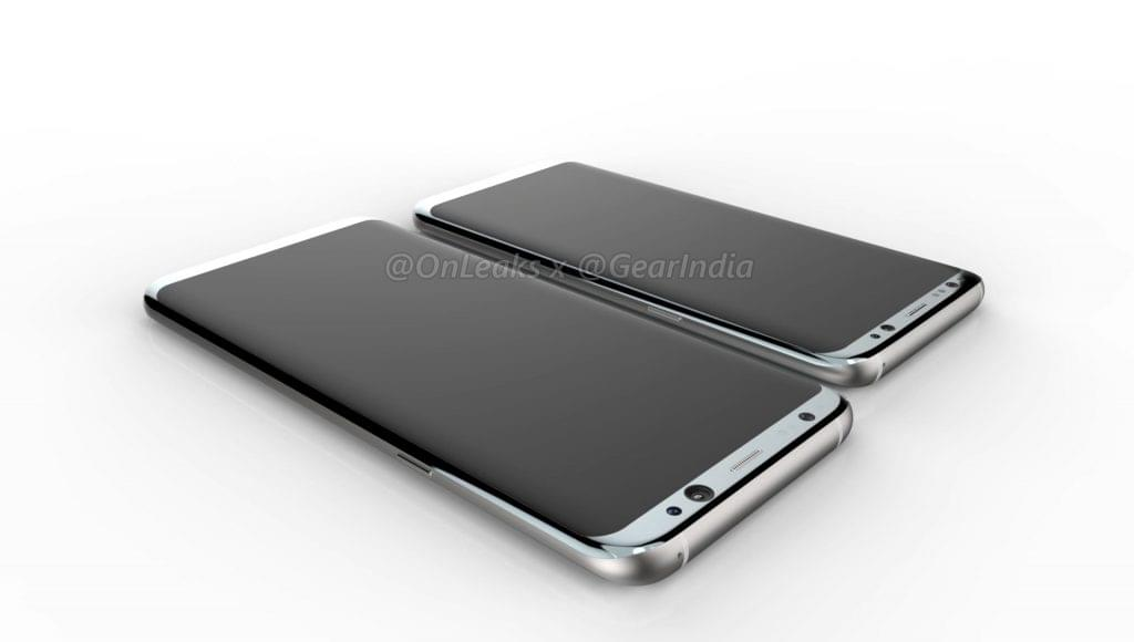 Galaxy S8 and Galaxy S8 Plus render 3