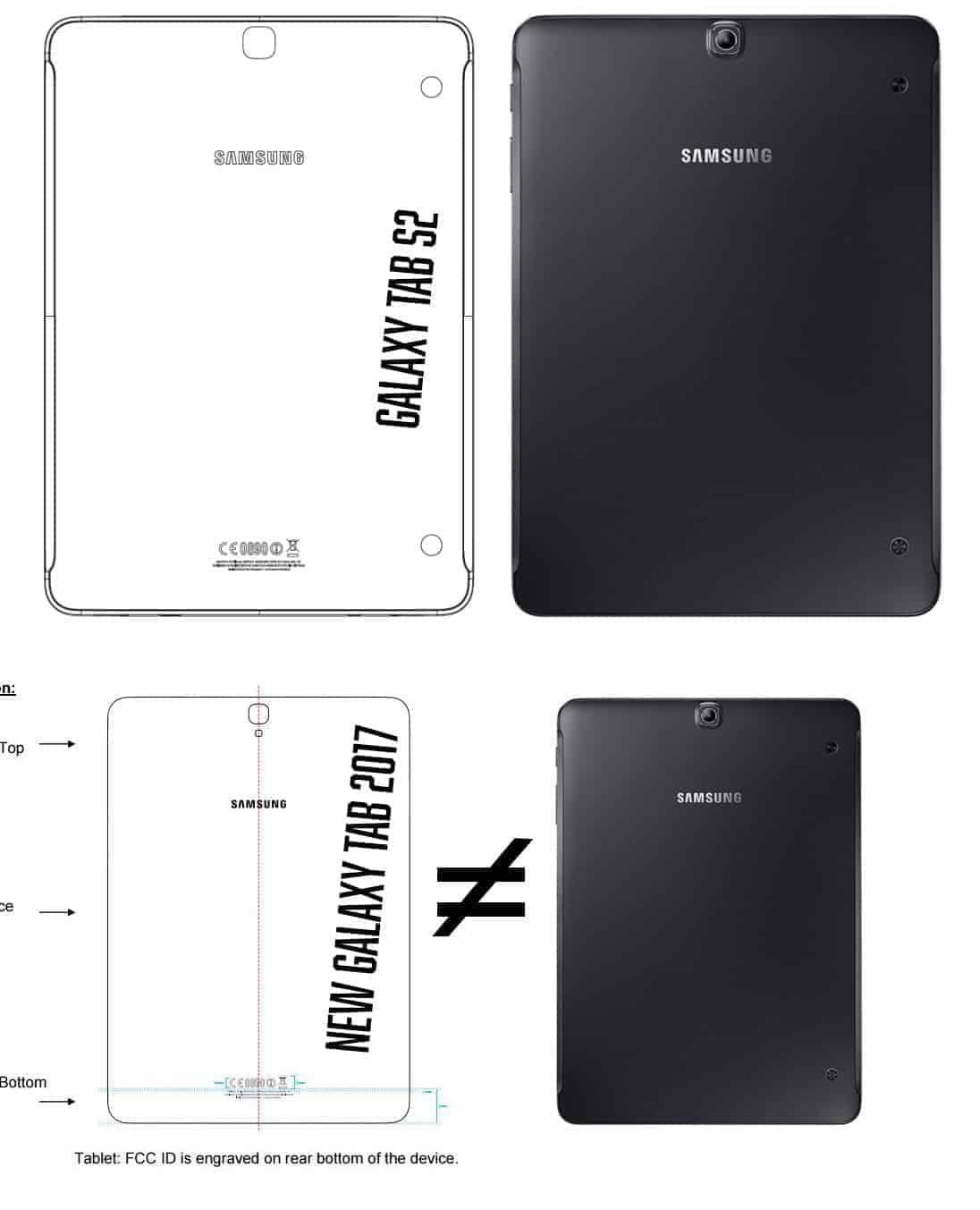 Galaxy Tab S2 render and Galaxy Tab S3 FCC listing 1