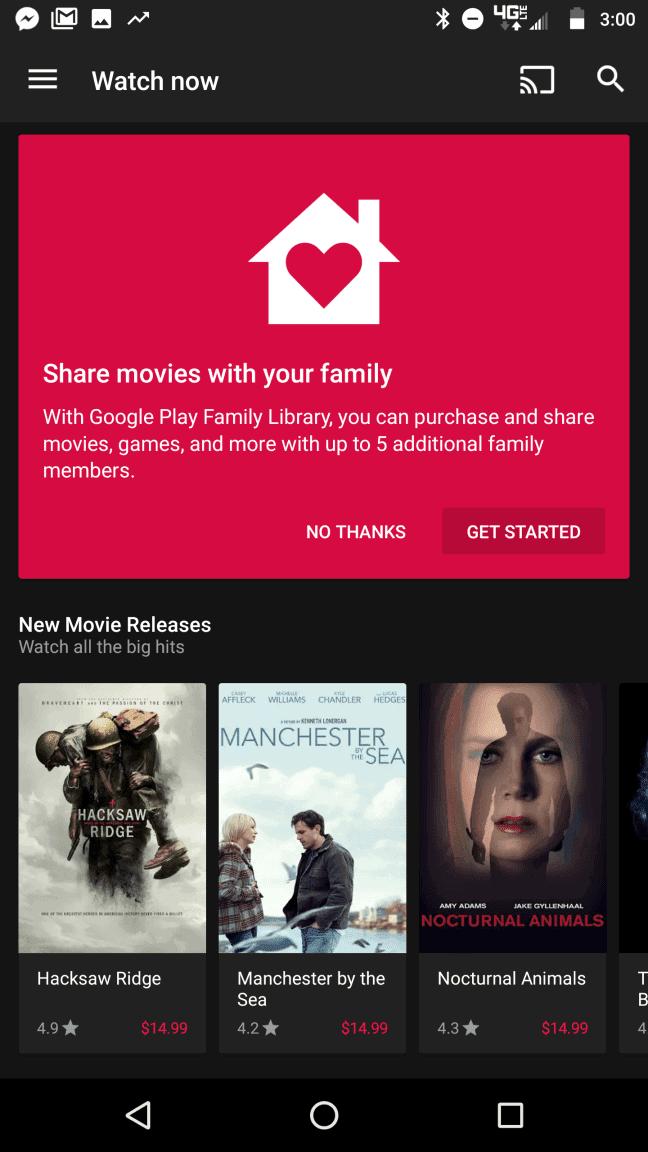 Google Play Movies dark background color 1