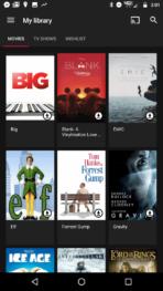 Google Play Movies dark background color 2