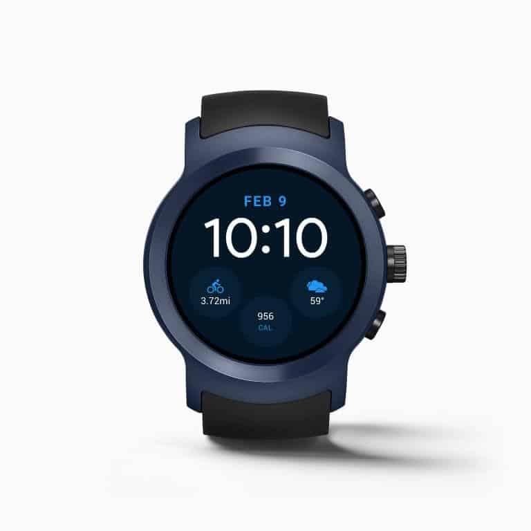 LG Watch Sport Android Wear Smartwatch Official Dark Blue 2