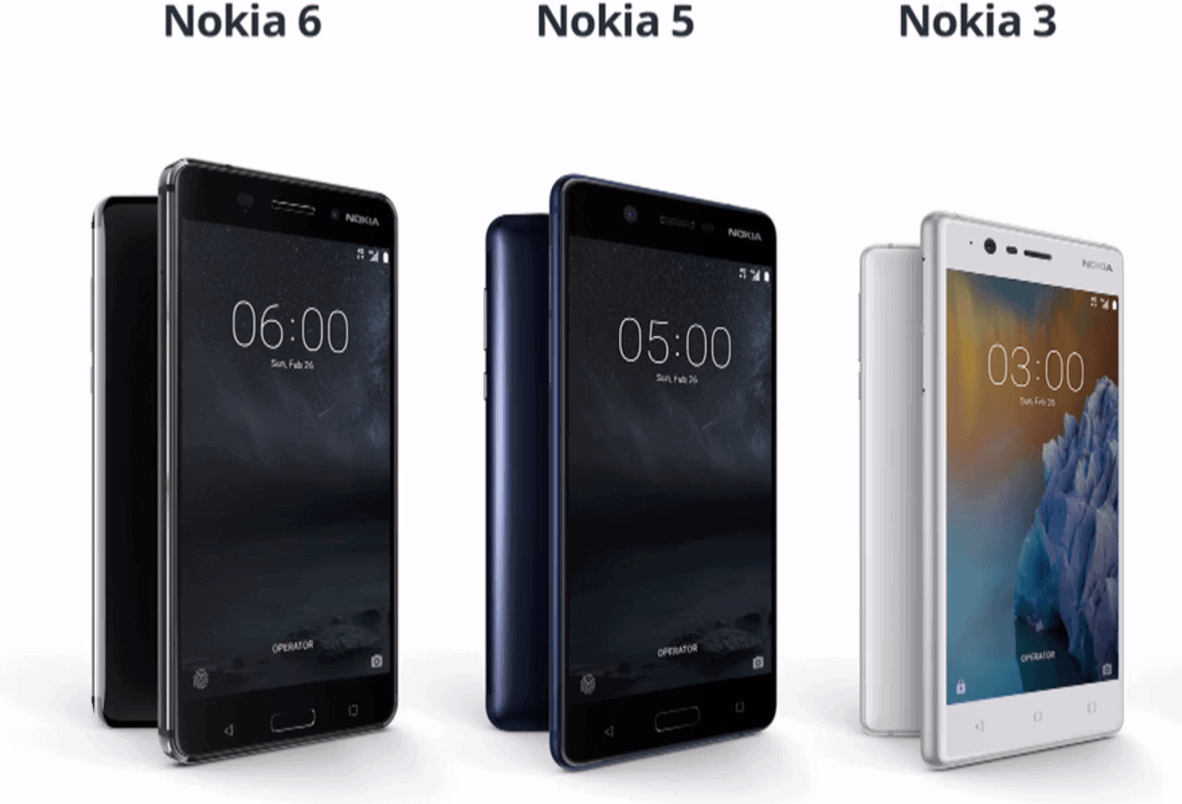 Nokia 3 5 and 6 1