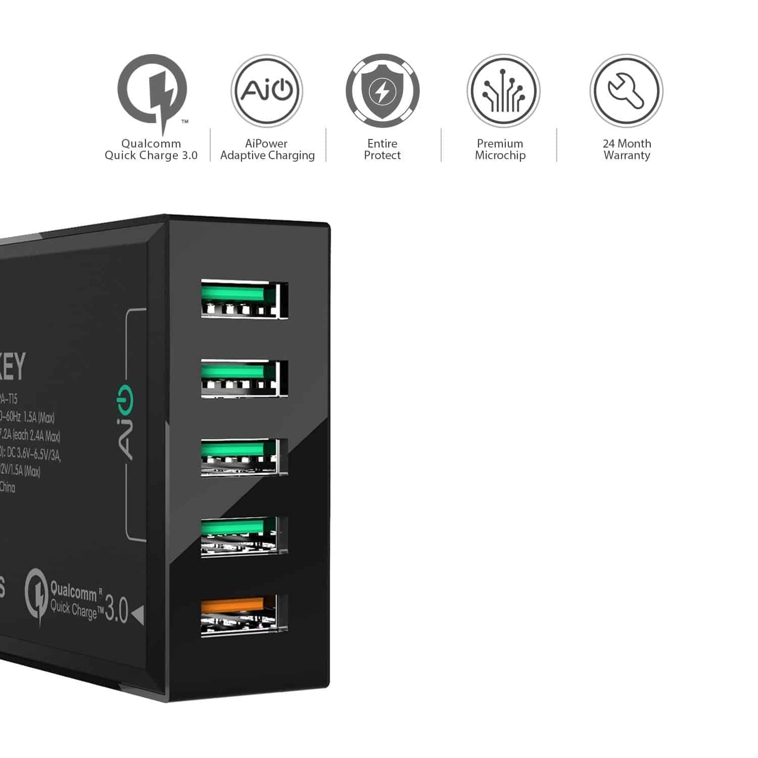 aukey 5 port usb charger 2