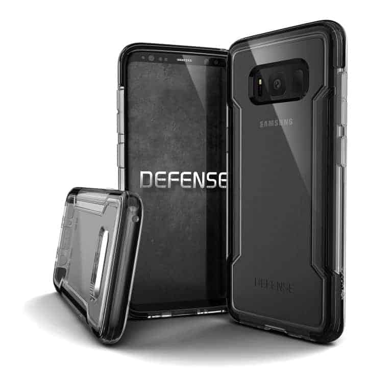 456678 DefenseClear GalaxyS8 Edge Black Medium