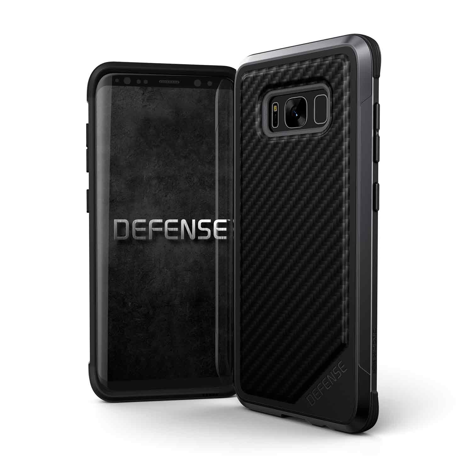 456692 DefenseLux GalaxyS8 Edge Plus BlackCarbonFiber