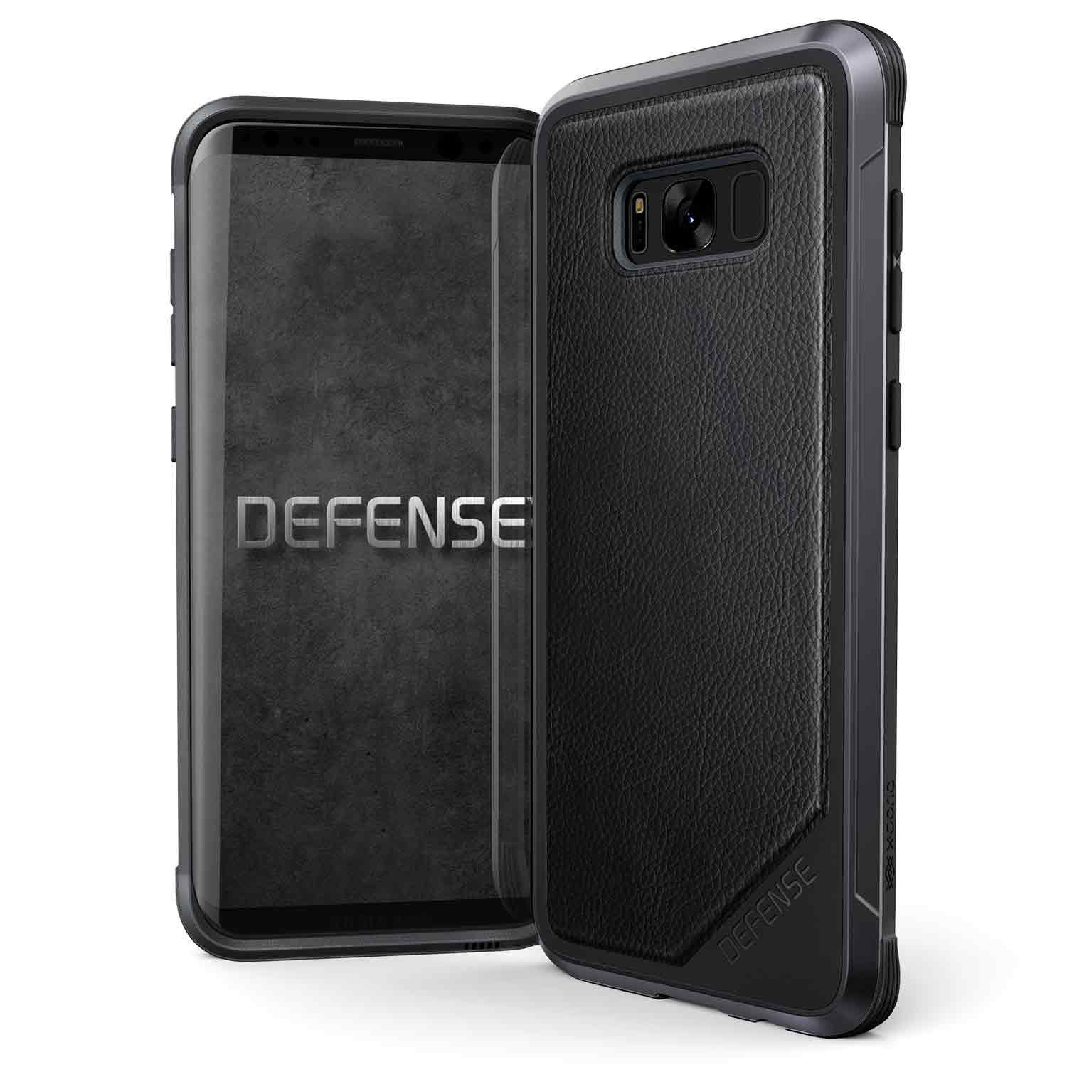 456708 DefenseLux GalaxyS8 Edge Plus BlackLeather 00