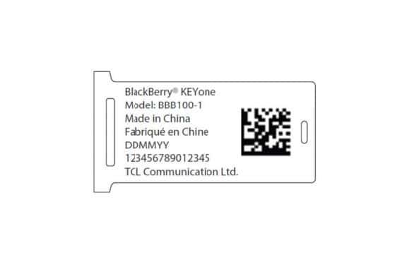 BlackBerry KEYone FCC 2