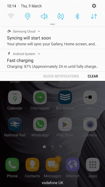 Galaxy S6 Edge Nougat update 3