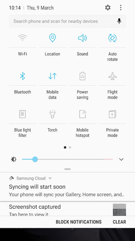 Galaxy S6 Edge Nougat update 4