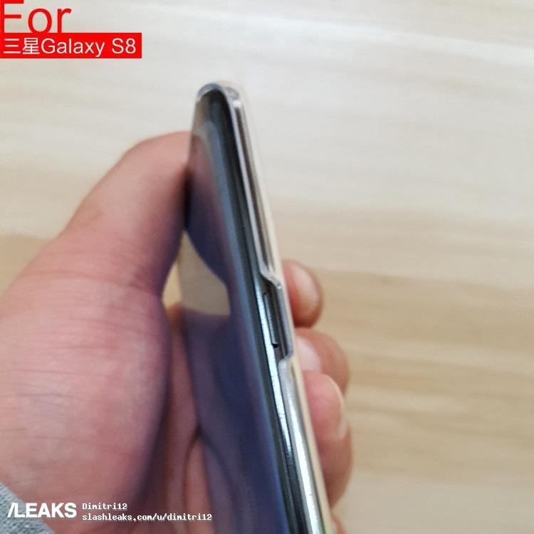 Galaxy S8 and crystal clear case leak 212