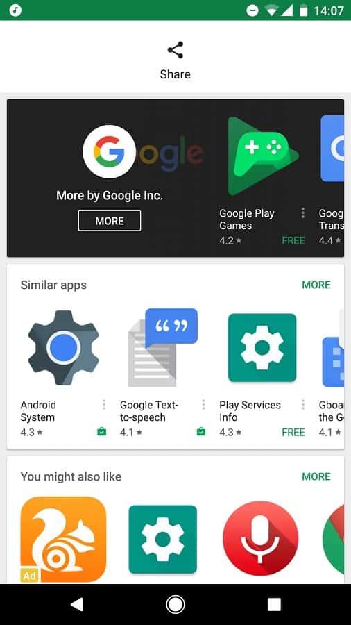Google Play Store Border Less Layout 2