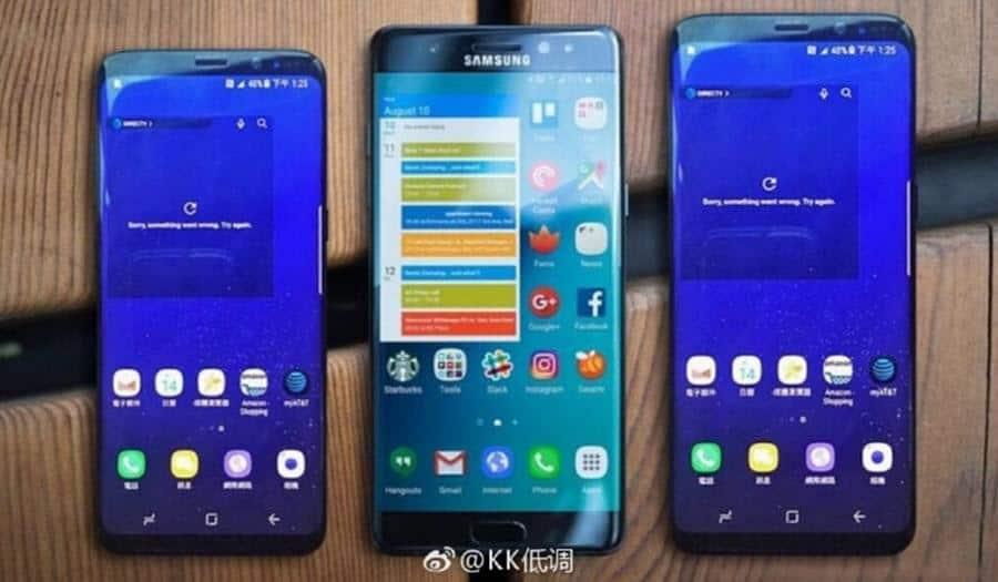 Samsung Galaxy S8 vs Note 7