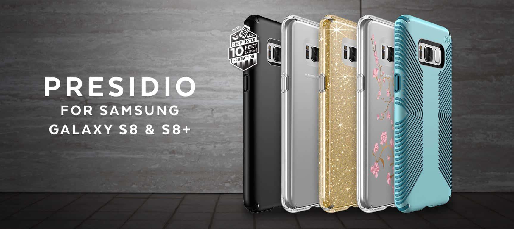 Speck Galaxy S8 Presidio Cases PR