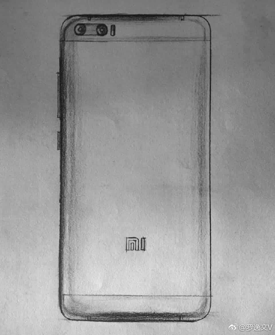 Xiaomi Mi 6 leaked sketch 1