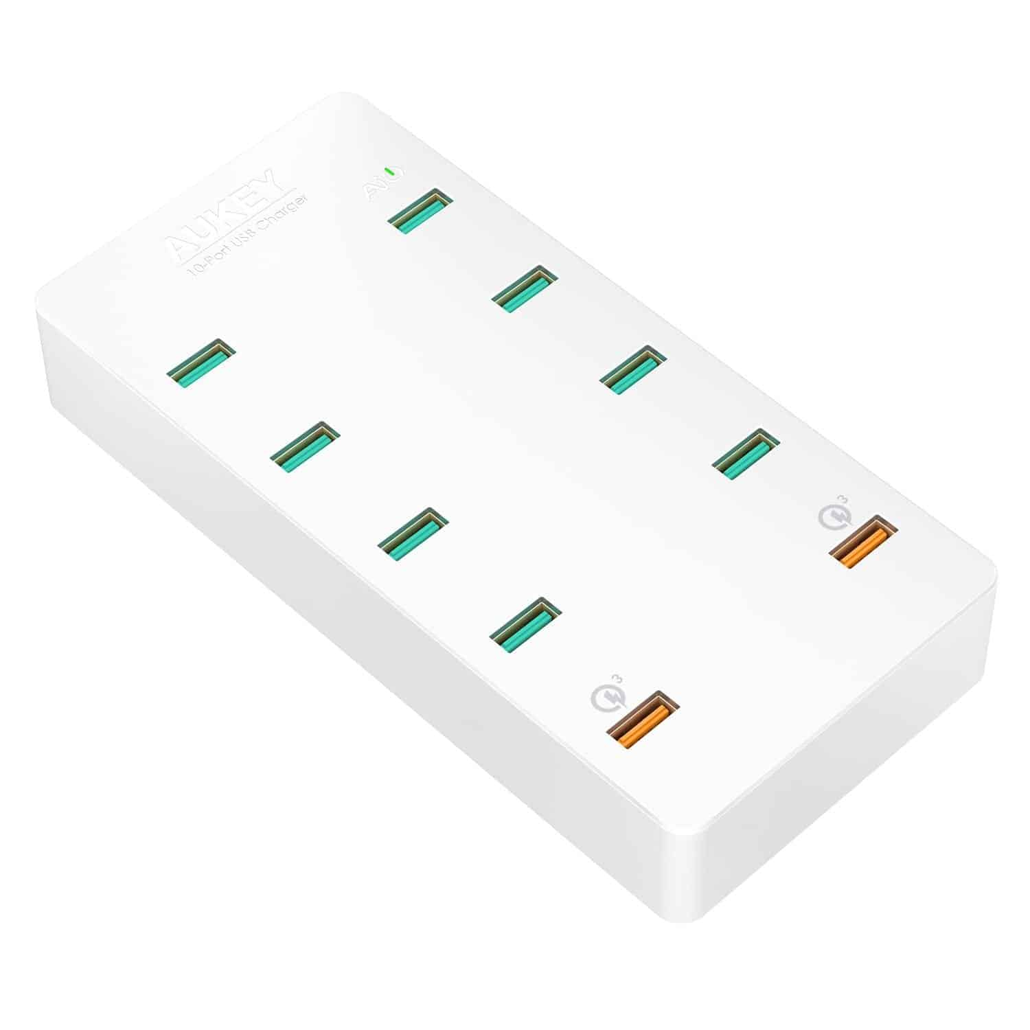 aukey 10 port charging station 2