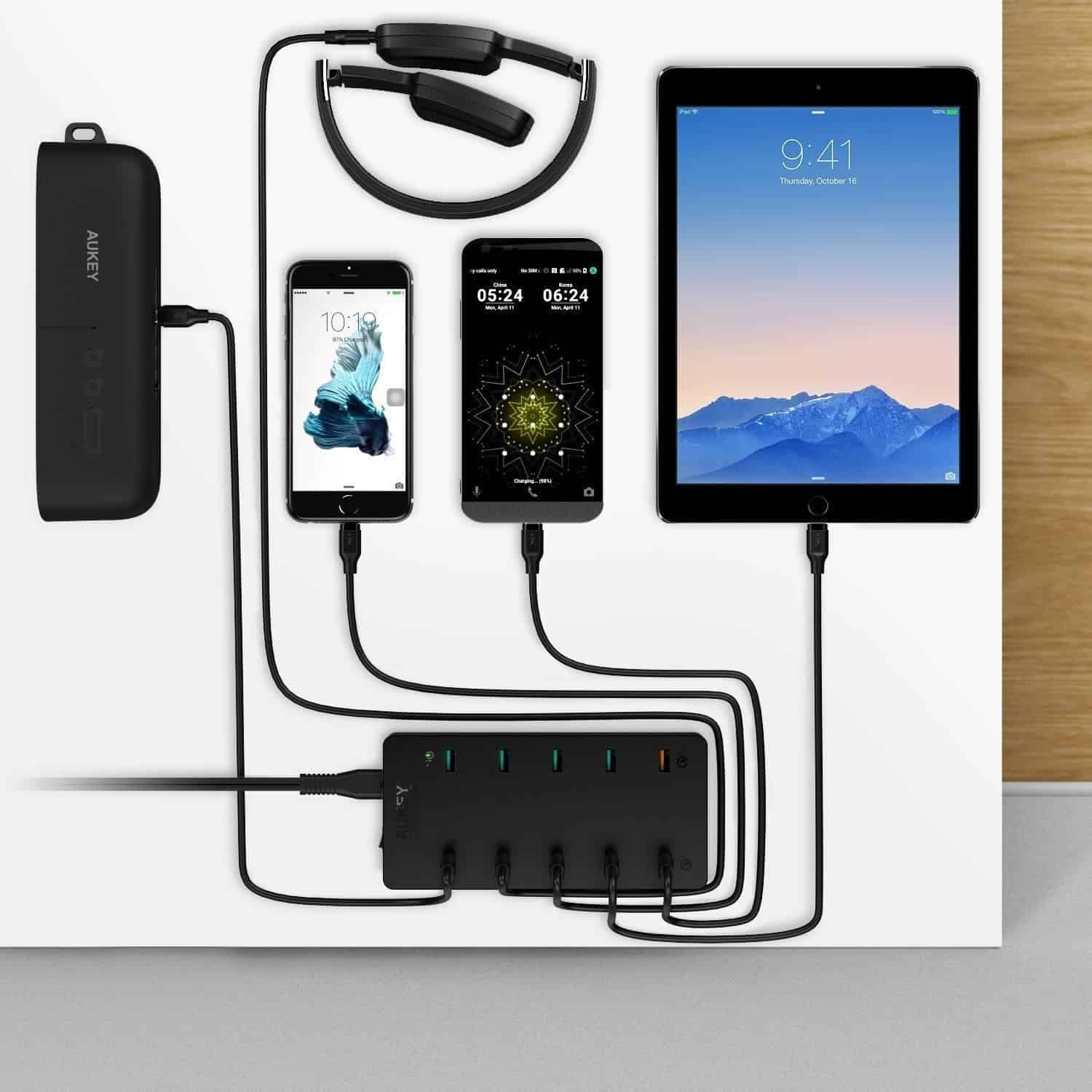 aukey 10 port charging station 9