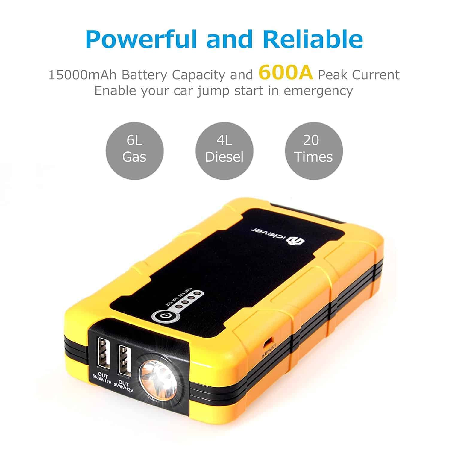 iclever car jump battery pack 3