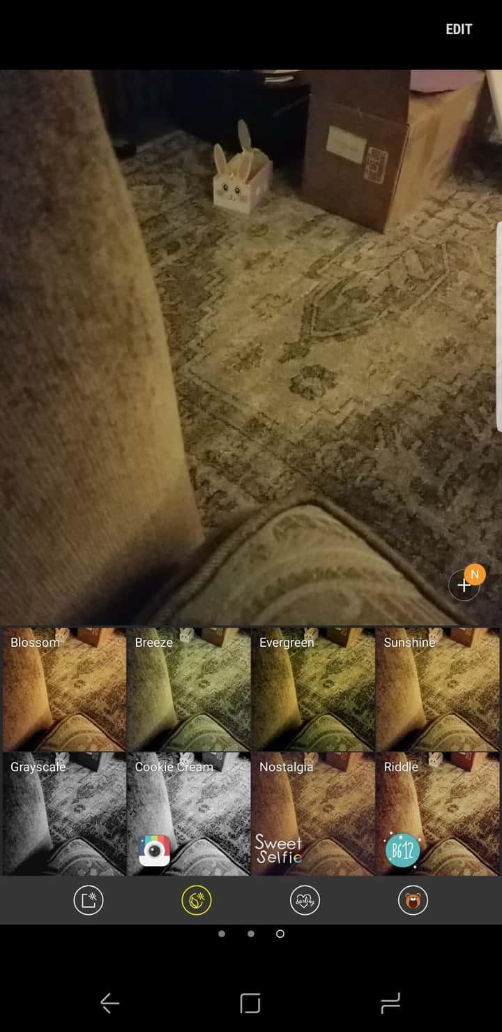 Galaxy S8 AH NS Screenshot camera filters 2