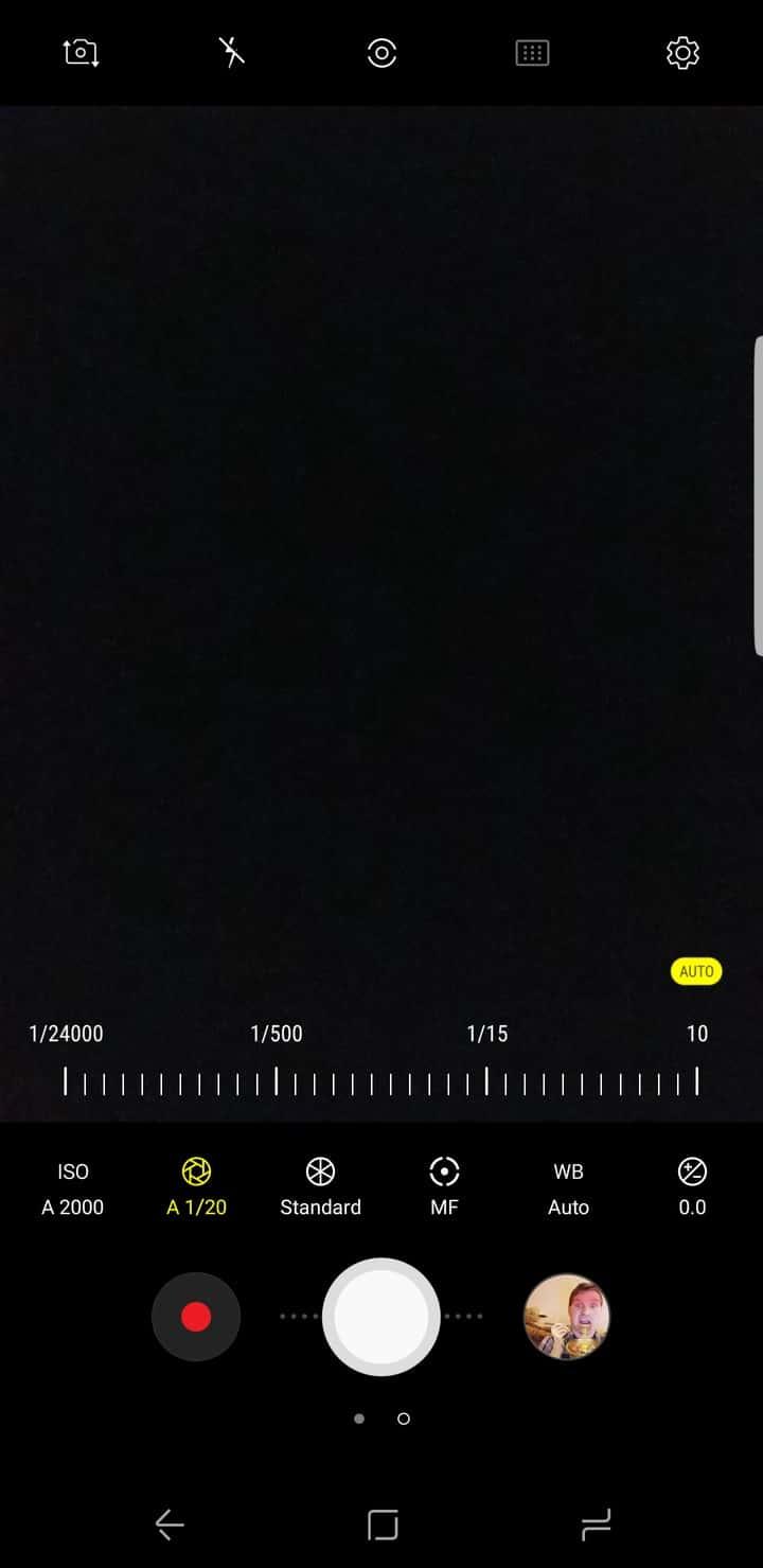 Galaxy S8 AH NS Screenshot camera pro mode