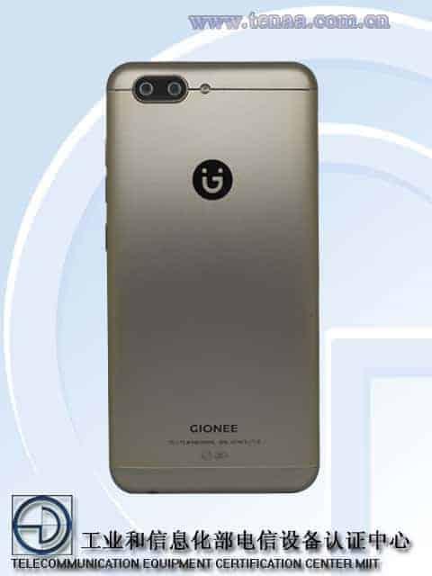Gionee S10 TENAA 2