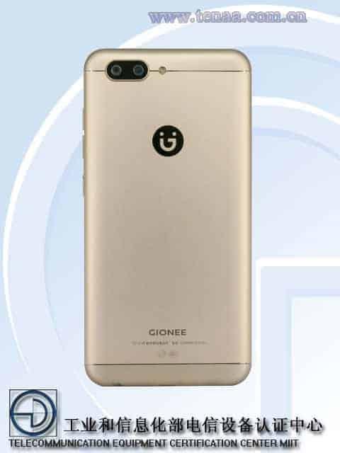 Gionee S10 TENAA 6