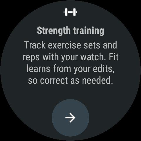 Google Fot For Wear 2.0 Strength Training tracker 1