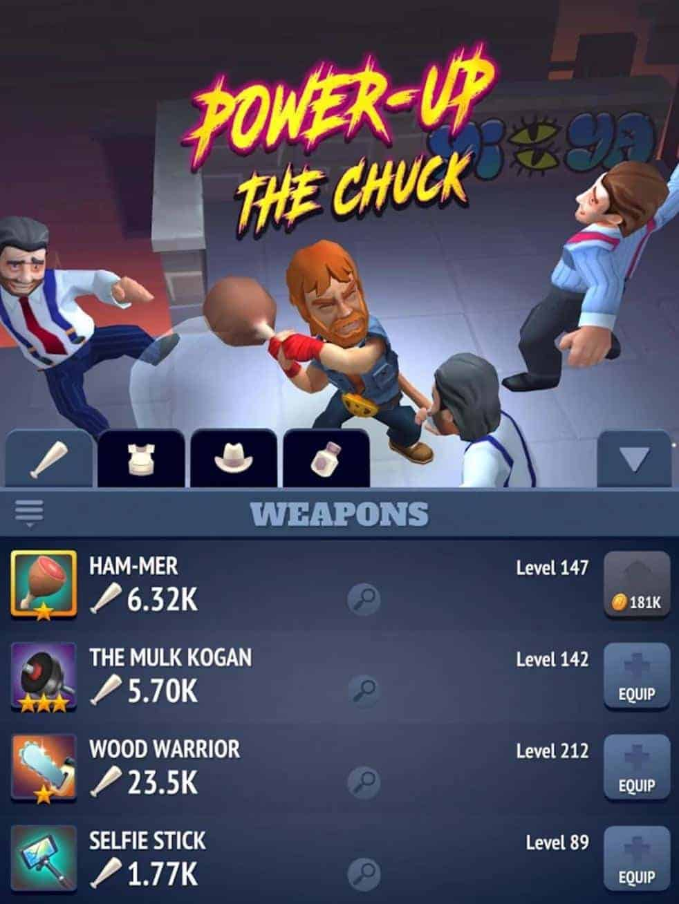 Nonstop Chuck Norris Roguelike Now Available On Android – Chuck Norris Birthday Card