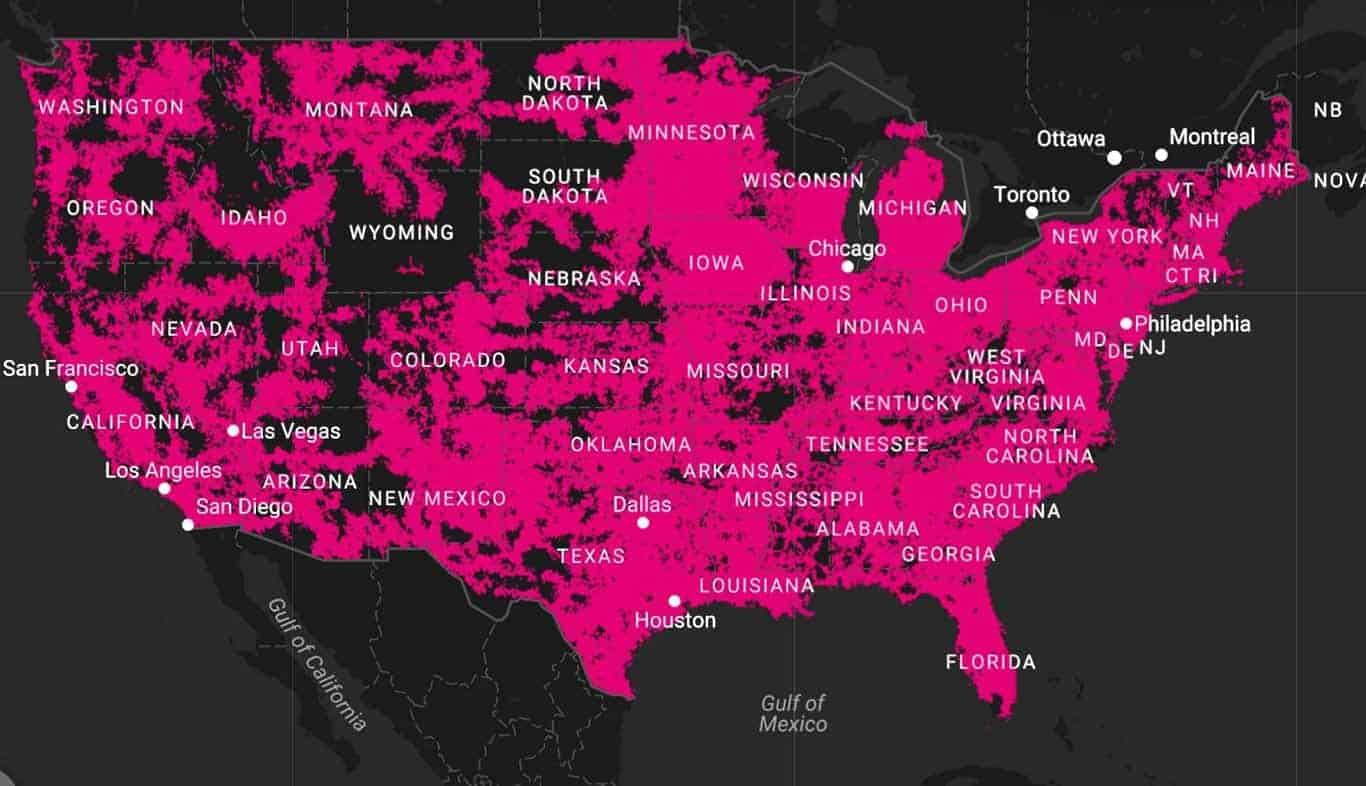 TMobile Introduces LTE Coverage Comparison Map Android News - T mobile coverage map florida