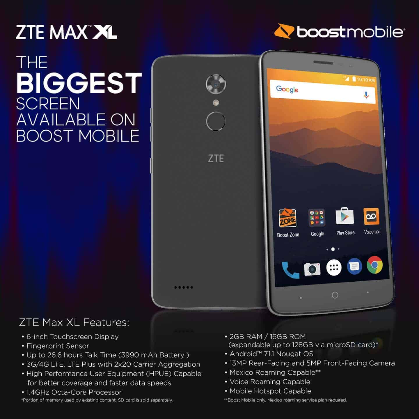 Affordable Zte Max Xl Lands At Boost Mobile