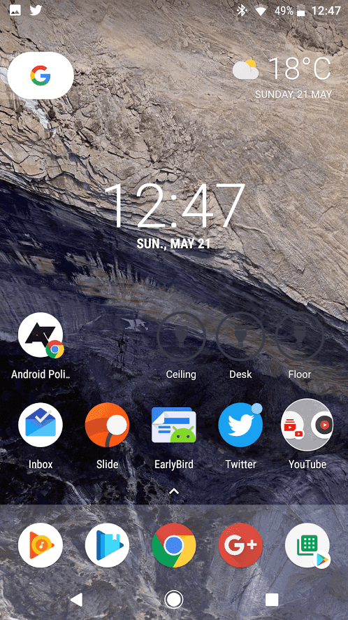 Android O Chrome Adaptive Icons Shortcuts AP 2