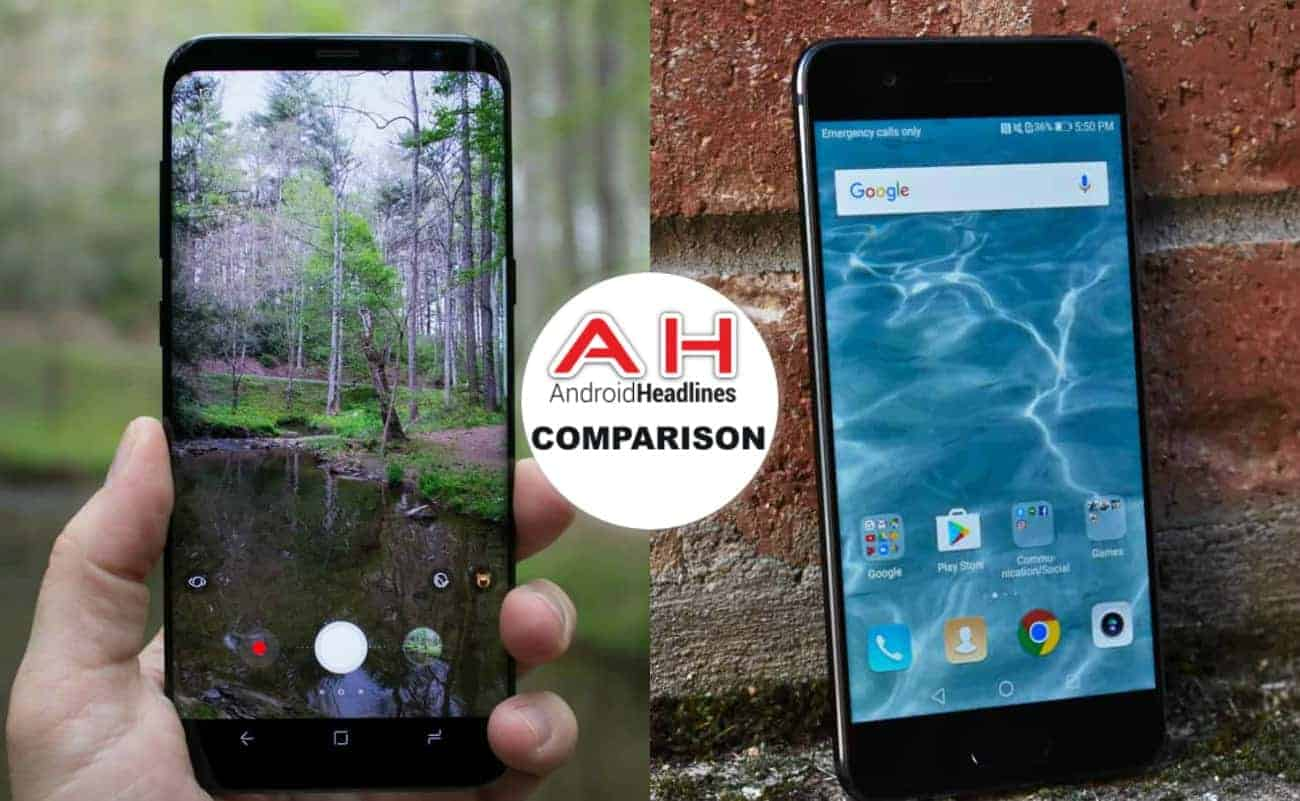 phone comparisons samsung galaxy s8 vs huawei p10
