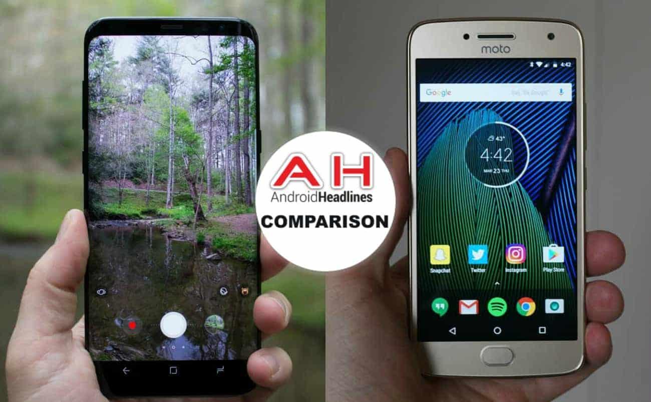 Phone Comparisons Samsung Galaxy S8 Vs Moto G5 Plus