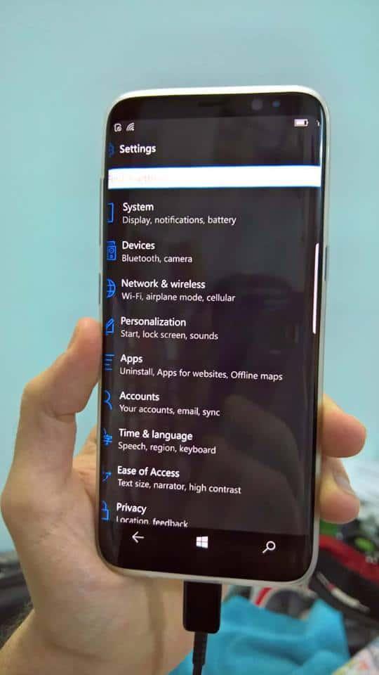 Galaxy S8 Windows 10