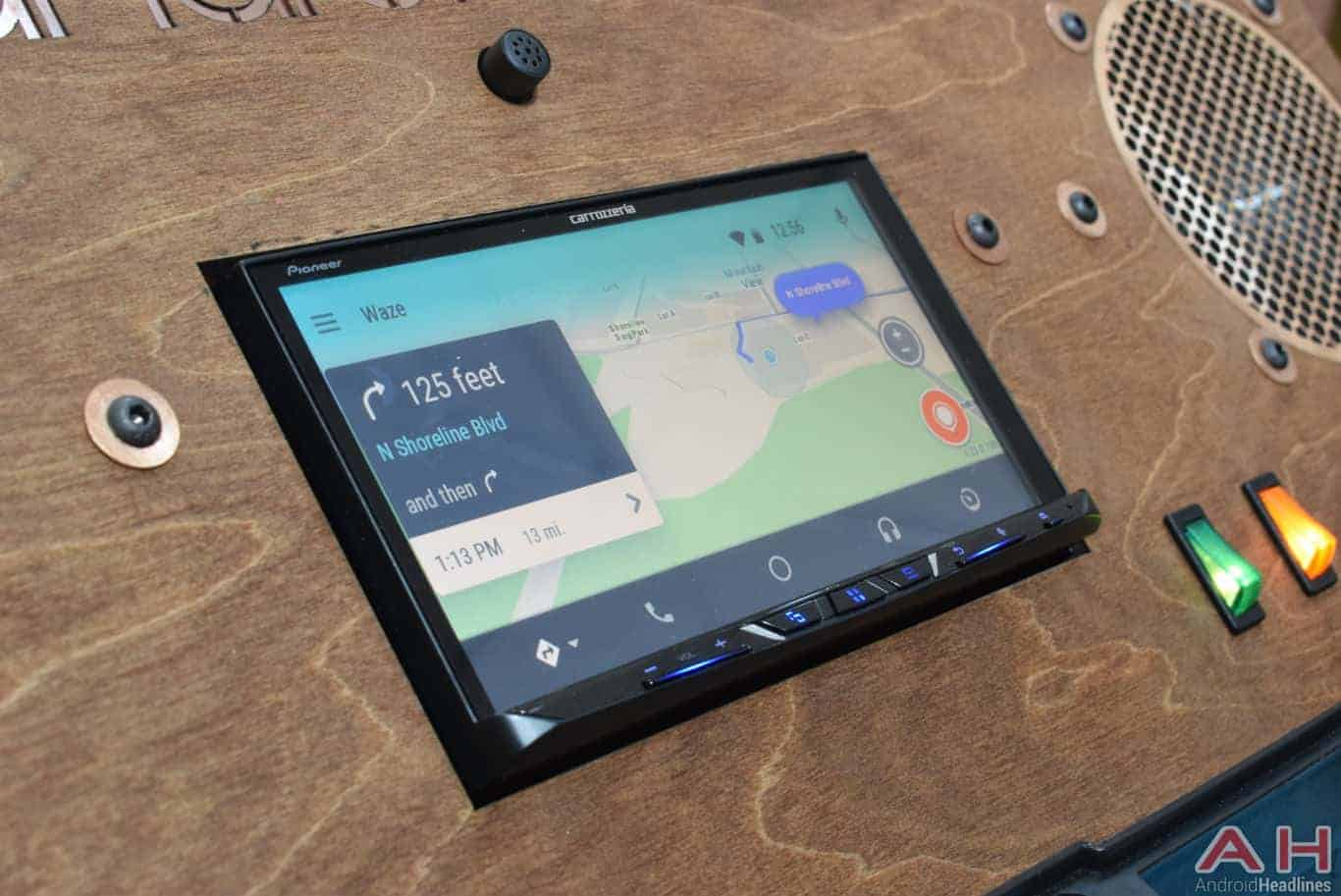 waze makes it onto the big screen in android auto android news. Black Bedroom Furniture Sets. Home Design Ideas