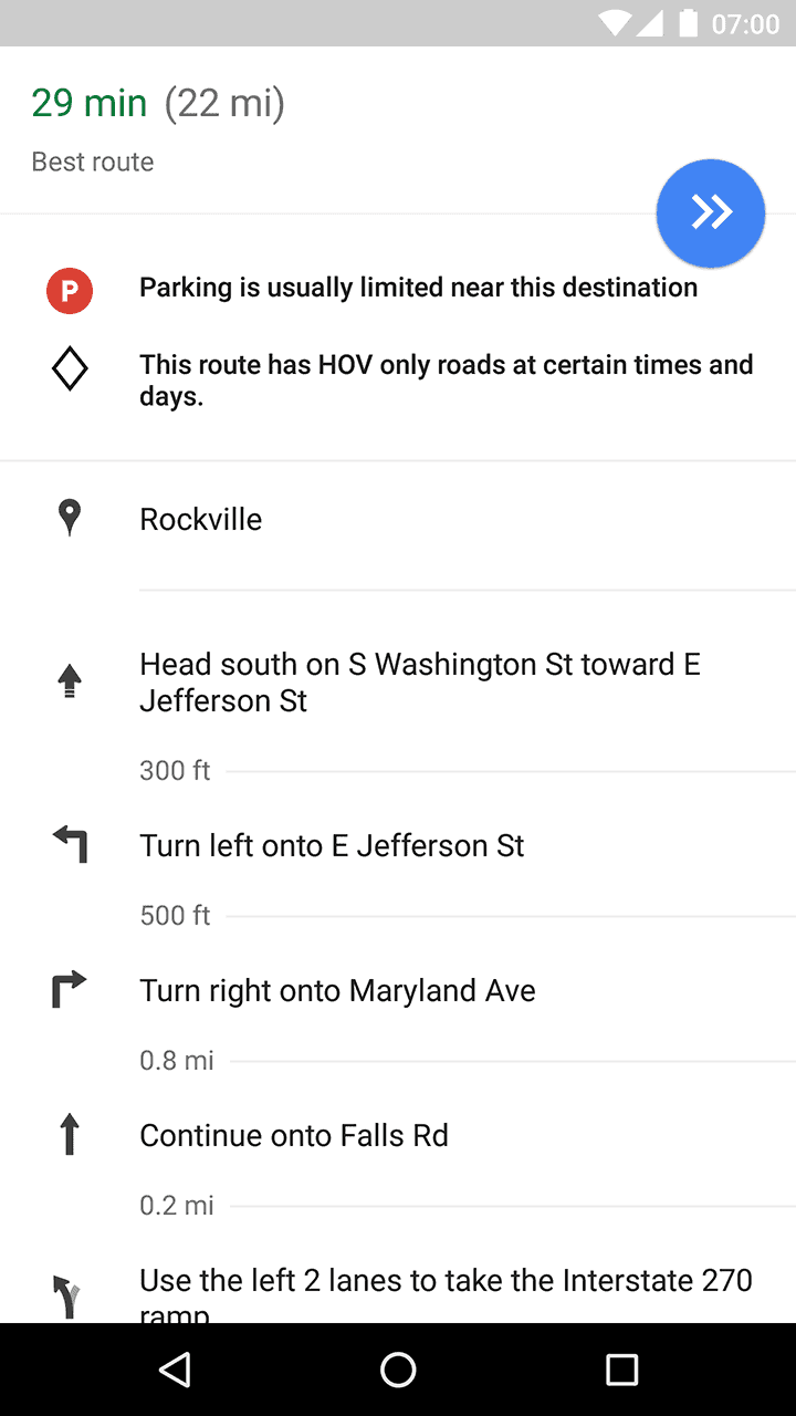 Google Maps Street View Thumbnails Bottom Bar AP 1