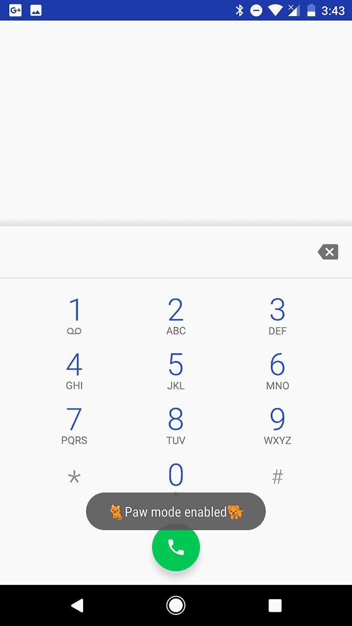 Google Phone Paw Mode AP 1
